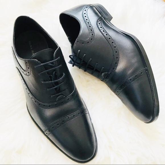 10c68efd Zara Shoes   Hp Man Black Leather Oxford Dress   Poshmark
